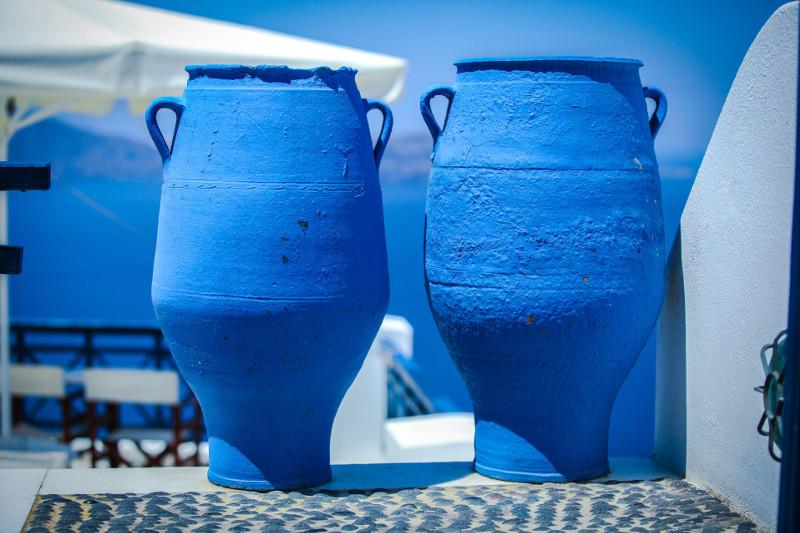Tradycyjna grecka ceramika.