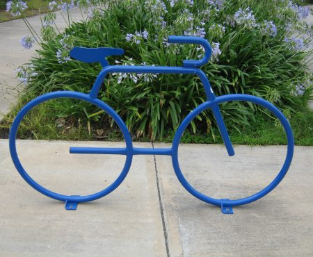 Rower: kwietnik na kołach