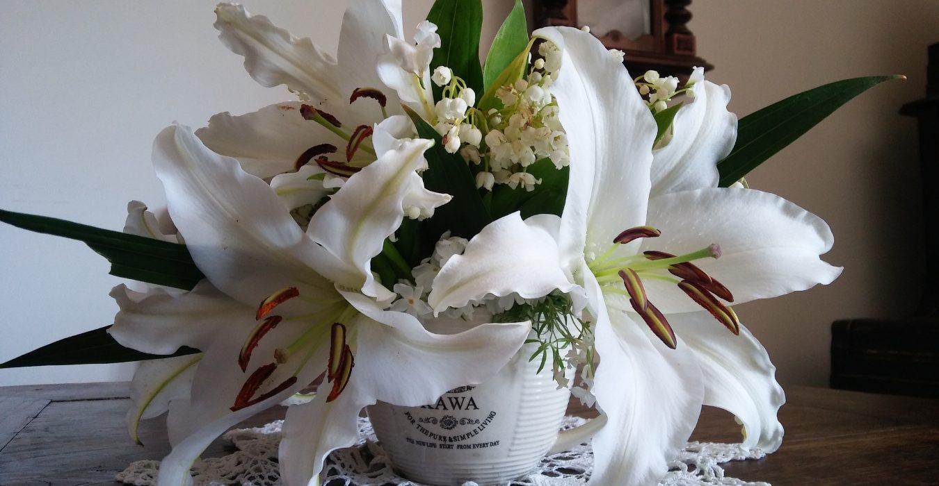 lilia konwalia bukiet
