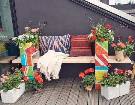 Betonowa ławka z kwiatami – zrób to sam